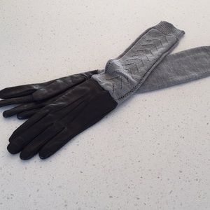 Antonio Murolo black leather gloves Italian 7.5 L